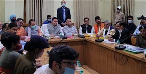 CM Dhami reviews relief rescue and construction works at Kathgodam